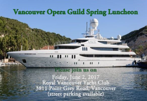 Vancouver Opera Guild Spring Luncheon 2017-18